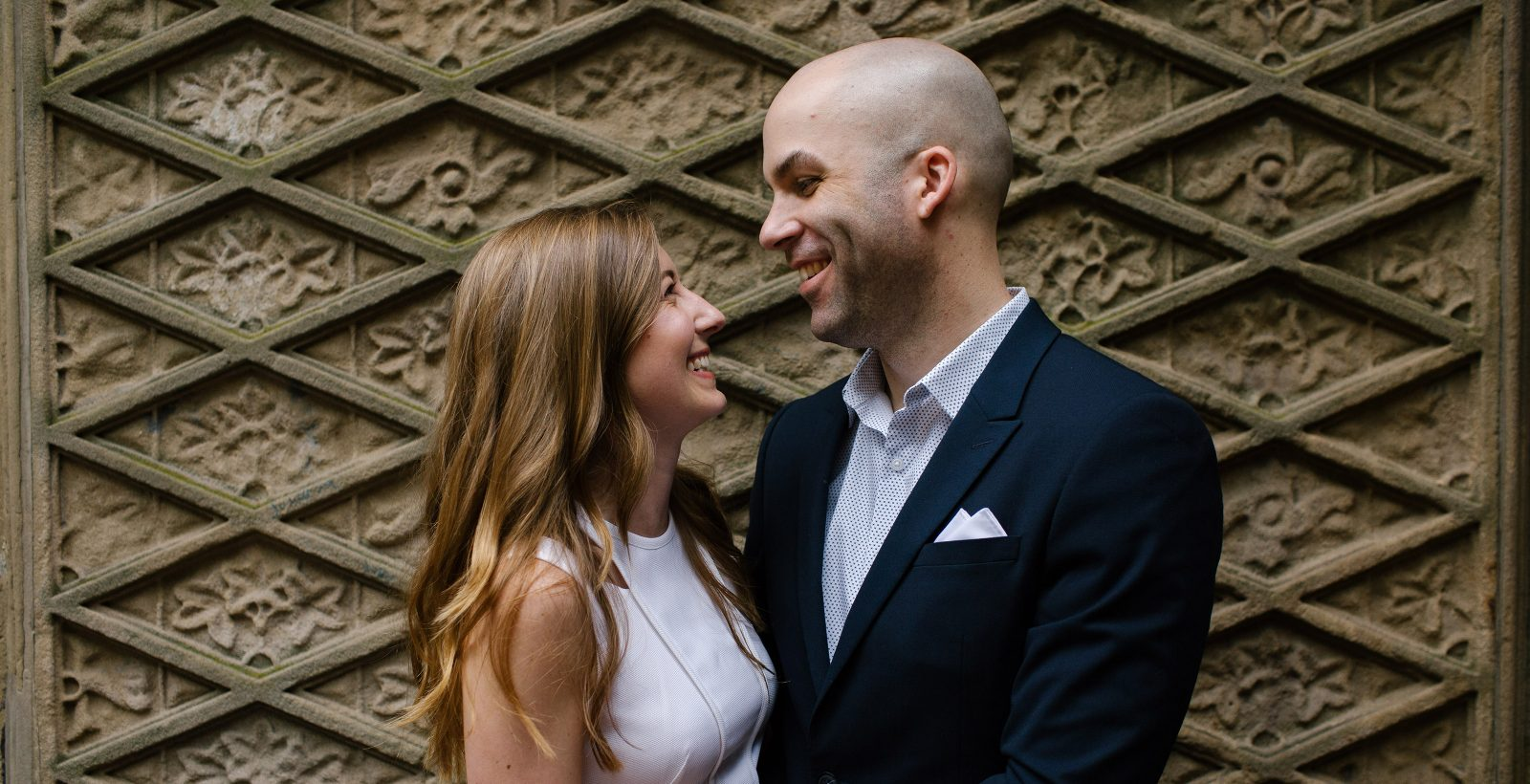 NYC Central Park Engagement at Bethesda Terrace   Kristie & Maclaine