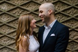 NYC Central Park Engagement at Bethesda Terrace | Kristie & Maclaine
